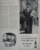 Fleischmanns Man On Street Big Bottle Ad 1959