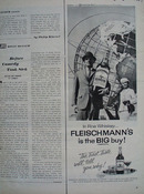 Fleischmanns Man Woman World Globe Ad 1964