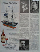 G And W Five Star Whiskey Fame Well Won Ad  1944