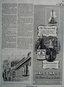 Haig and Haig And Eiffel Tower Ad 1945
