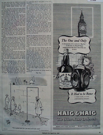 Haig and Haig And Big Ben Ad 1945