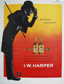 I W Harper Bourbon Always A Pleasure Ad 1960