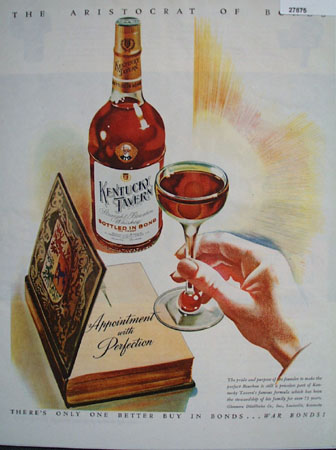 Kentucky Tavern Appointment With Perfection Ad 1944