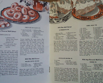 Tested Blue Ribbon Malt Extract Cookbook 1951