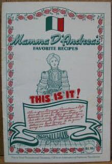Mamma D Andreas Favorite Recipes Cookbook 1984
