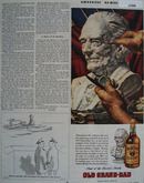 Old Grand Dad Whiskey Artistic Achievement Ad 1945