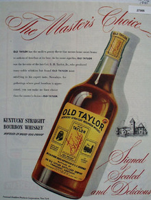 Old Taylor Whiskey The Masters Choice Ad 1945