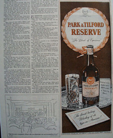 Park And Tilford Whiskey Finest Tasting Ad 1945
