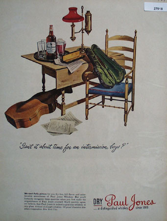 Paul Jones Time for Intermission Ad 1944