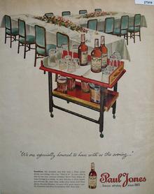 Paul Jones Whiskey Especially Honored Ad 1945