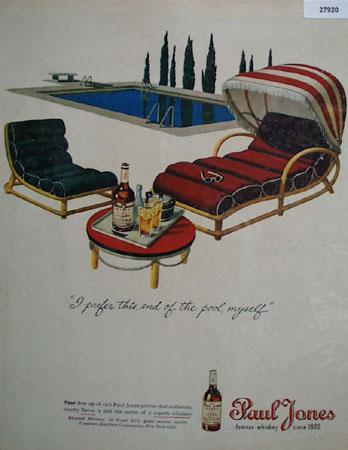 Paul Jones Whiskey Prefer End Of Pool Ad 1945