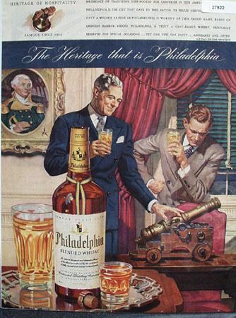 Philadelphia Whisky Heritage of Hospitality Ad 1943