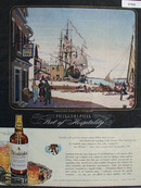 Philadelphia Whisky and Waterfront At Arch St Ad 1944