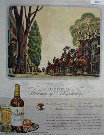 Philadelphia Whisky And Parade in High St Ad 1944