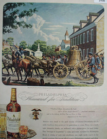 Philadelphia Whisky Moving Liberty Bell Ad 1944