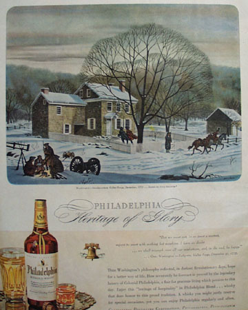 Philadelphia Whisky Washington Headquarters  Ad 1944