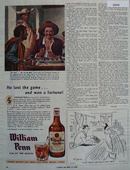 William Penn Whisky He Lost The Game Ad 1945
