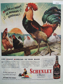Schenley Whisky Mellow and Bright Ad 1944