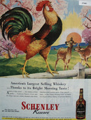 Schenley Whisky Americas Largest Ad 1945