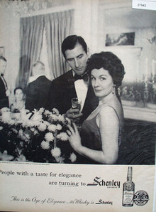 Schenlley Whisky People With Taste Ad 1959