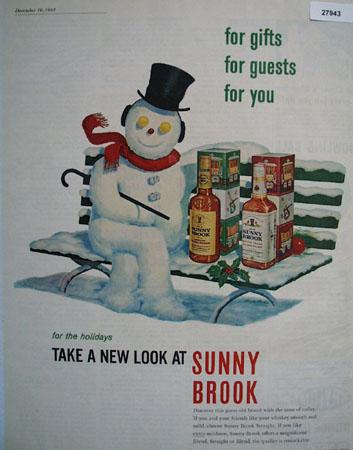 Sunny Brook Christmas Snowman Ad 1961
