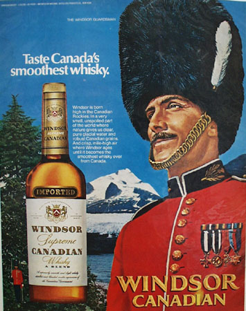 Windsor Canadian Whisky And Mountie Ad 1972