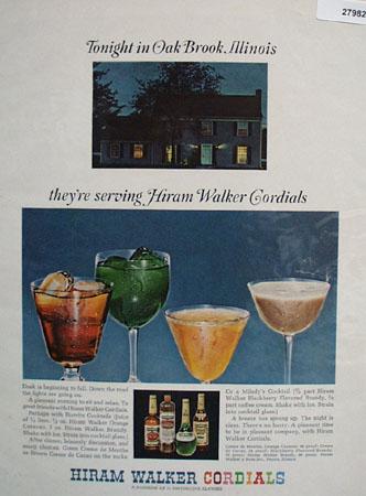 Hiram Walker And Oak Brook Illinois Ad 1965