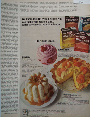Whip And Chill 498 Different Desserts Ad 1965