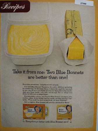 Blue Bonnet Margarine Take It From Me Ad 1967