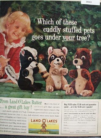 Land O Lakes Butter Christmas Ad 1961