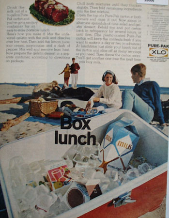 Pure Pak Tuna Lunch Ad 1967
