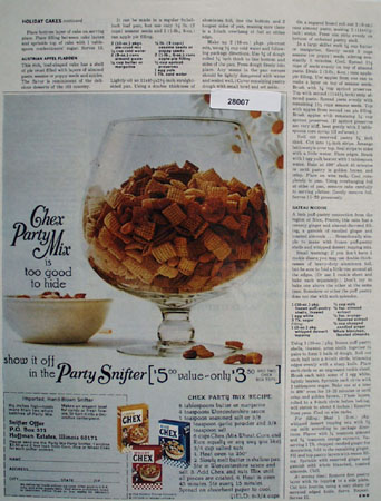 Chex Party Mix And Party Snifter Ad 1967