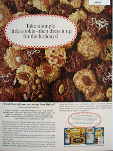 Bakers Coconut Take A Simple Cookie Ad 1965