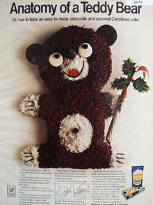 Bakers Chocolate Teddy Bear Ad 1968