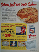 Crisco Ends Pie Crust Failure Ad 1954