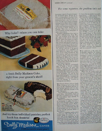 Dolly Madison Cakes Why Bake Ad 1959