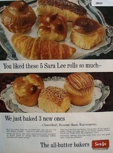 Sara Lee Dinner Rolls The All Butter Bakers Ad 1965