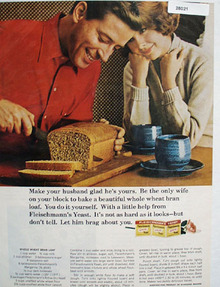 Fleischmanns Yeast And Whole Wheat Bran Loaf Ad 1965