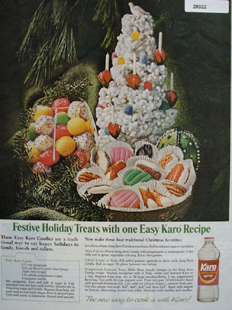 Karo Syrup Festive Holiday Treats Ad 1967