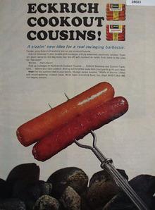 Eckrich Cookout Cousins Ad 1965