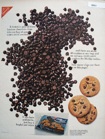 Chips Ahoy Cookies How Many Chips On Page Ad 1966