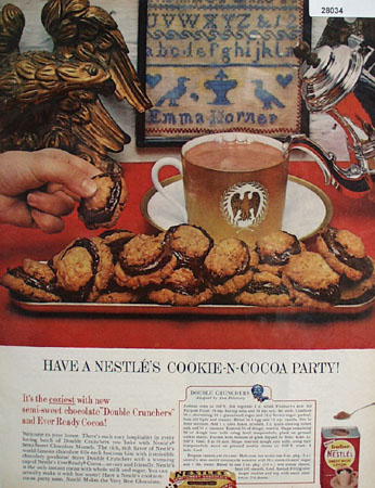 Nestles Cookie and Cocoa Party Ad 1961