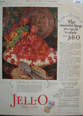 Jell O Wonderful Things Can Do to Salads Ad 1927
