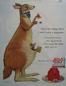 Jell O And Kangaroo Ad 1954