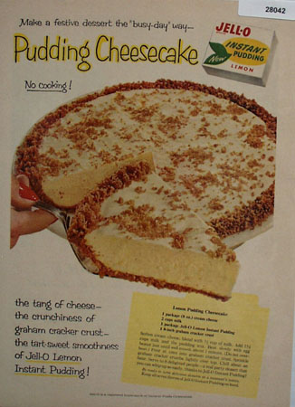 Jell O Pudding Cheesecake Ad 1958
