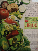 Jell O Salad Gelatin Exclusively For Salads Ad 1965