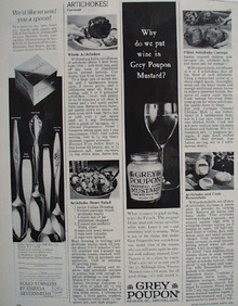 Grey Poupon Wine In  Grey Poupon Mustard Ad 1966
