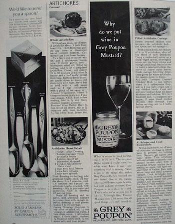 Grey Poupon Wine In  Grey Poupon Mustard Ad 1966