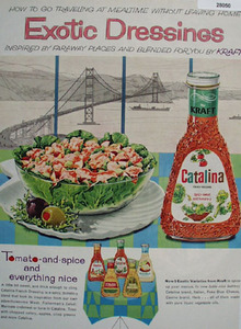 Kraft Catalina Exotic French Dressing Ad 1961