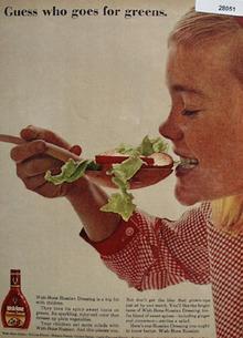 Wish Bone Salad Dressing Goes For Greens Ad 1964